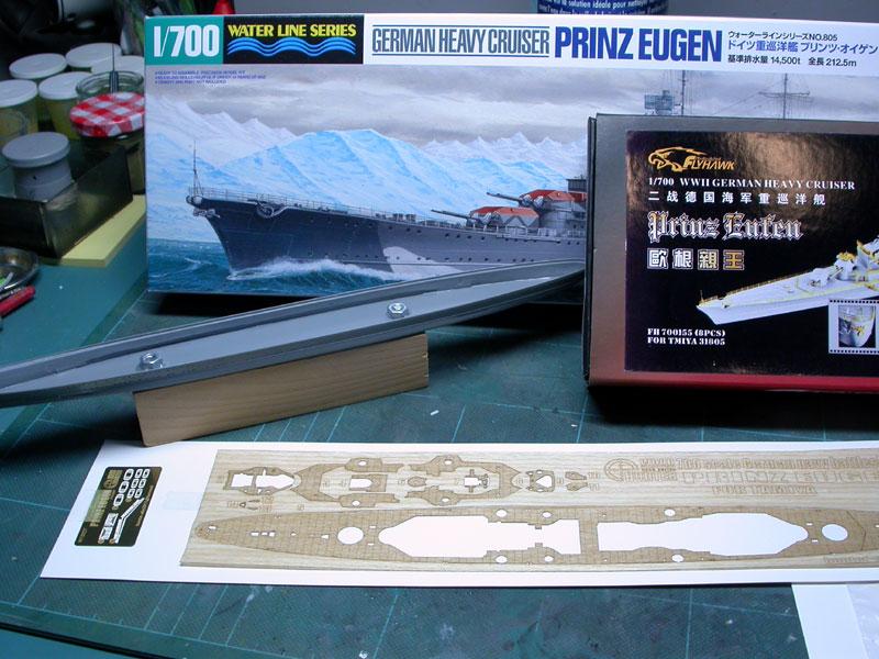 Montage Prinz Eugen au 1/700° Tamiya Pe01
